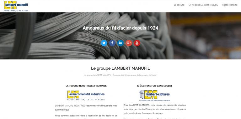 Notre nouveau site internet LAMBERT MANUFIL
