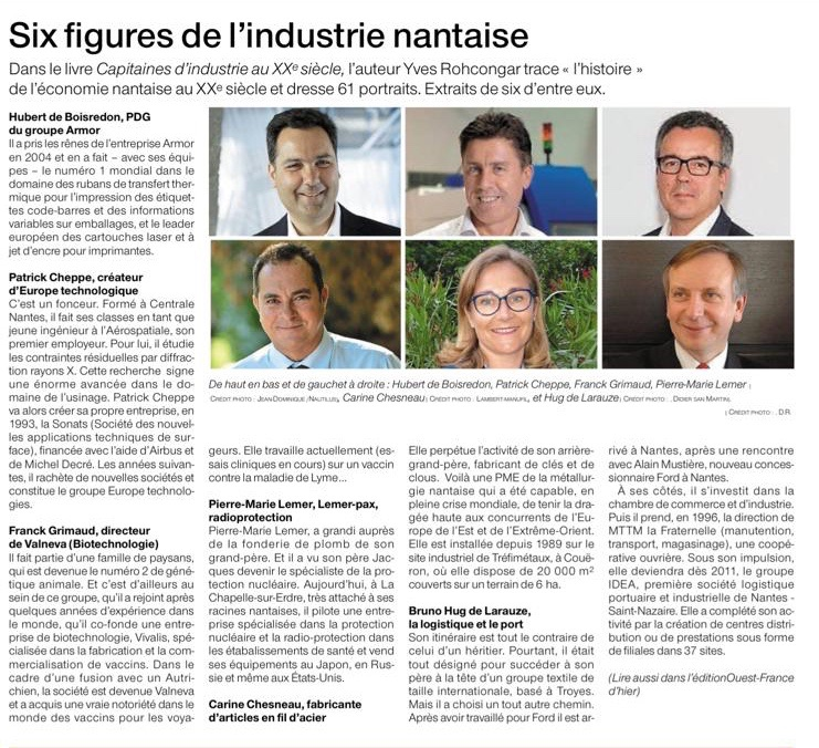 LAMBERT MANUFIL INDUSTRIES, figure de l'industrie Nantaise dans Ouest-France